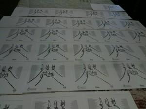 letterpressed inserts